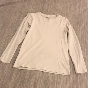 ($5 ADD-ON) White Plain Long Sleeve